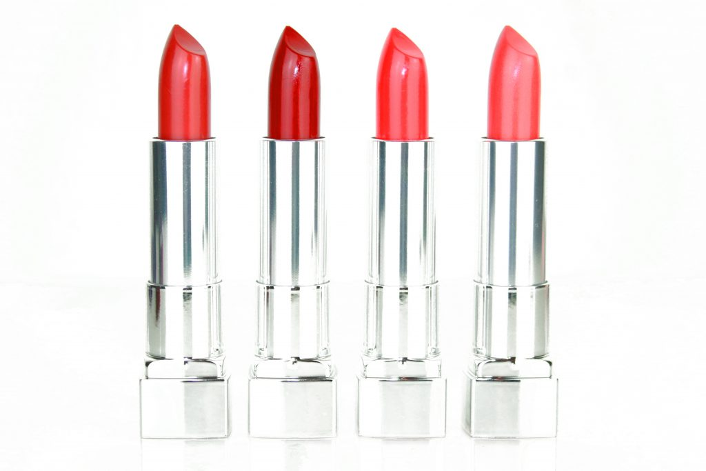 Maybelline Color Sensational The Creams Lippenstifte - Brick Beat, Wine Rush, Coral Rise, Sunset Spark